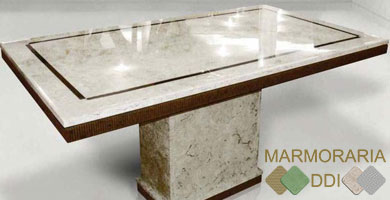 Mesa De Mármore Travertino